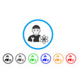 science engineer rounded icon vector image vector image