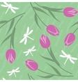 Seamless grunge tulip texture 519 vector image