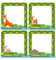 set of wild animal frame vector image