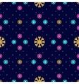 snowflake seamless pattern Winter vector image vector image