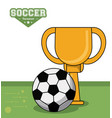 soccer sport trophy ball design image vector image