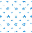strategy icons pattern seamless white background vector image vector image