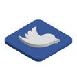 twitter logo isometric icon vector image vector image