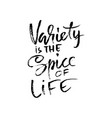 variety is the spice of life hand drawn dry brush vector image vector image