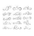 Vintage flourish swirls vector image vector image