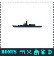 warship icon flat vector image