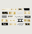 washi tape strips collection vector image vector image