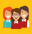 young women avatars characters vector image
