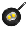 a frying pan with omelette vector image
