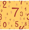 Hand-drawn numbers seamless pattern vector image