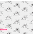 seamless pattern surprised cute cats vector image