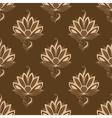 Floral motif repeat seamless pattern vector image