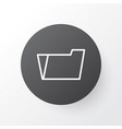 file folder icon symbol premium quality isolated vector image