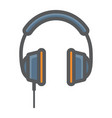 headphone colorful line icon listen and music vector image