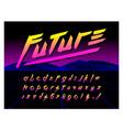 80s retro futurism style font brush stroke vector image vector image