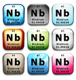 A button with the chemical element Niobium vector image vector image