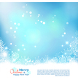 Abstract Christmas Winter Background vector image