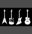 acoustic and electric guitars white color vector image vector image