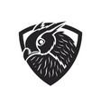 bird in shield logo vector image vector image
