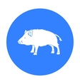 Boar icon in black style isolated on white vector image