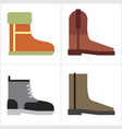 boot shoes vector image vector image