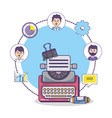 business office workspace supplies cartoon vector image vector image