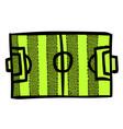 cartoon image of football field vector image vector image