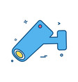 cctv camera security icon design vector image vector image