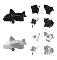 children toy blackmonochrom icons in set vector image