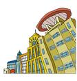 Creative City Street Scene vector image
