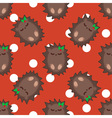 Cute cartoon hedgehog seamless pattern