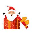cute santa claus in giftbox character vector image