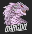 dragon head purple vector image vector image