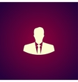 Flat icon of businessman vector image vector image