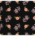 Floral wreath seamless pattern vector image vector image