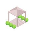 gazebo isometric icon vector image vector image