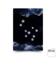 gemini constellation of snowflakes zodiac sign vector image