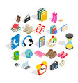 gift icons set isometric style vector image vector image
