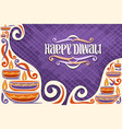 greeting card for indian diwali vector image vector image
