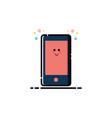 handphone mbe style logo vector image vector image