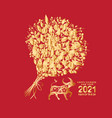 happy chinese new year 2021 ox gold zodiac