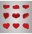 Heart Icons Set ideal for valentines day and vector image vector image