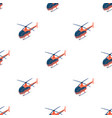 helicopter icon in cartoon style isolated on white vector image vector image