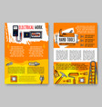 home repair sketch handy work tools poster vector image vector image