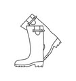 icon of hunters rubber boots vector image vector image