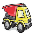 Kids toy truck vector image vector image