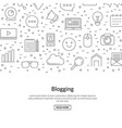 line blog icons background with place for vector image vector image