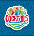 logo for alcoholic cocktails vector image vector image
