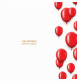 modern red balloons background for happy vector image vector image