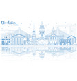outline charleston south carolina skyline with vector image vector image